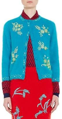 Prada Women's Embellished Angora-Blend Cardigan