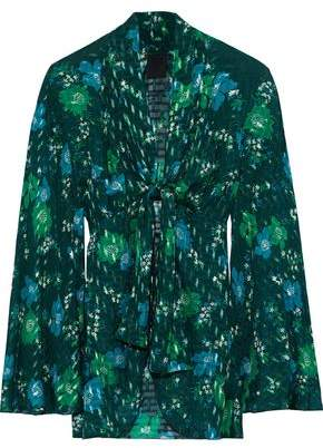 Anna Sui Printed Fil Coupe Silk-blend Kimono