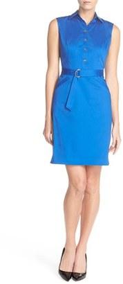 Women's Ellen Tracy Stretch Cotton Shirtdress $128 thestylecure.com