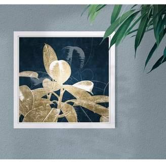 Wynwood Studio Indigo Flower Gold Framed Art