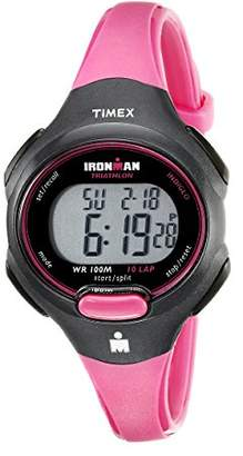 Timex Women's T5K525 Ironman Essential 10 Mid-Size Resin Strap Watch