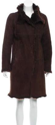 Joseph Shearling Knee-Length Coat