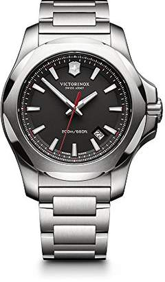 Victorinox Men's 241723.1 I.N.O.X. Watch with Black Dial and Stainless Steel Bracelet