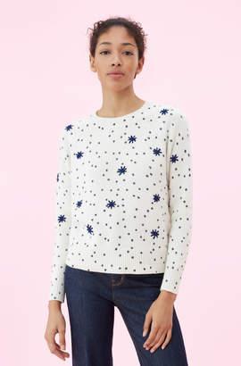 Rebecca Taylor La Vie Embroidered Dot Print Pullover