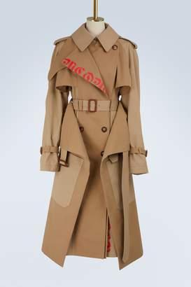 Alexander McQueen Logo cotton trench coat