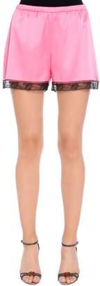 Dolce & Gabbana Silk Satin Lingerie Shorts With Lace