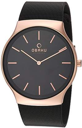 Obaku Men's Analog-Quartz Watch with Stainless-Steel Strap