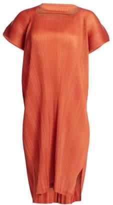 Pleats Please Issey Miyake Double Pleats Short Sleeve Dress