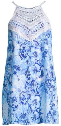 Lilly Pulitzer Ophelia Lace Trim Floral Mini Dress