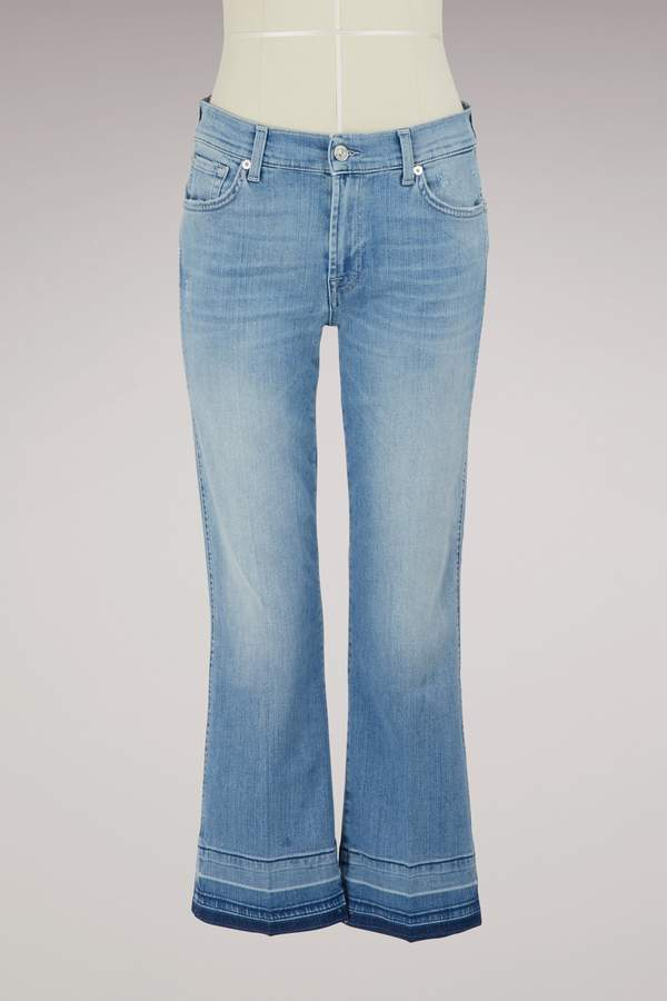 7 For All Mankind Cropped boot unrolled jeans