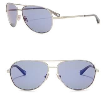 Fossil Aviator 59mm Sunglasses