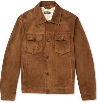 Loro Piana Suede Trucker Jacket - Tan