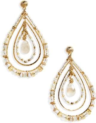 Gas Bijoux Aurore Beaded Teardrop Earrings