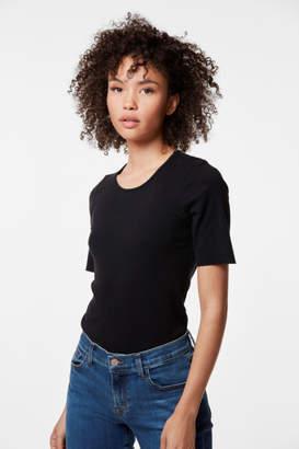 J Brand French Girl Short Sleeve Tee In Black
