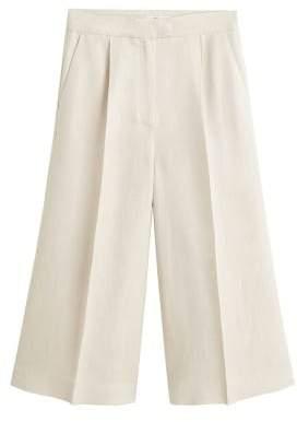 MANGO Linen-blend culotte trousers