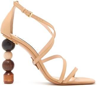 Jacquemus Rumba ornamental-heel leather sandals