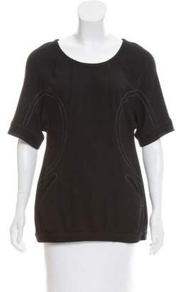 Yigal Azrouel Knit Short Sleeve Top