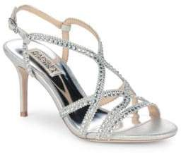 Badgley Mischka Wilde Embellished Leather Sandals