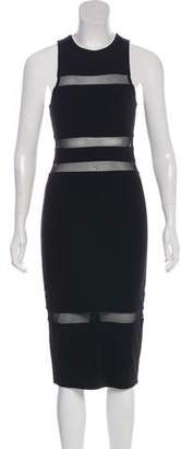 Alexander Wang Mesh-Accented Midi Dress