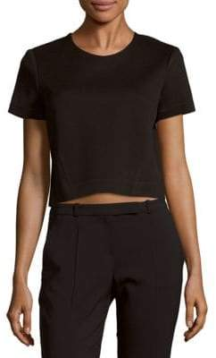 Zac Posen Solid Cropped Top