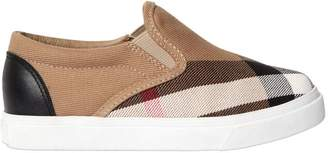 Burberry Classic Check Canvas Slip-On Sneakers