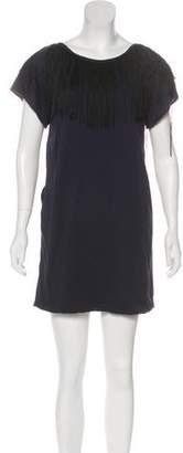3.1 Phillip Lim Fringe Scoop Neck Mini Dress