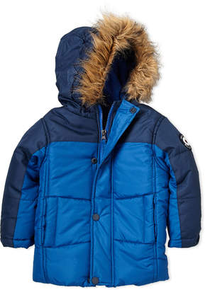 Ben Sherman Toddler Boys) Color Block Faux Fur-Trimmed Coat