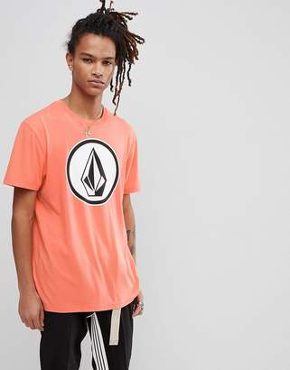 Volcom T-Shirt With Large Logo In Salmon
