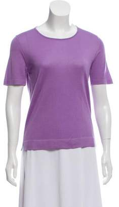 Malo Cashmere-Blend Short Sleeve Top