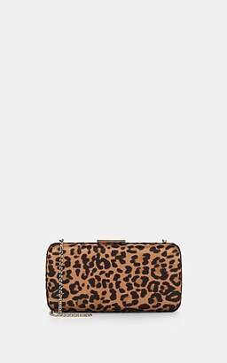 Gianvito Rossi Women's Leopard-Printed Satin Clutch - Brown