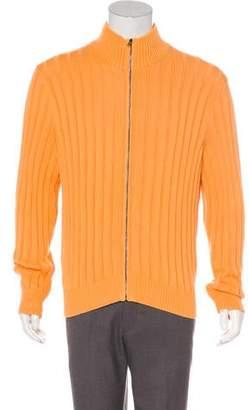 Ralph Lauren Purple Label Rib Knit Sweater