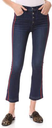 Veronica Beard Jean Carolyn Jeans with Tux Stripe