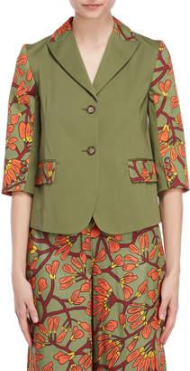 I'M Isola Marras Floral Print Panel Jacket