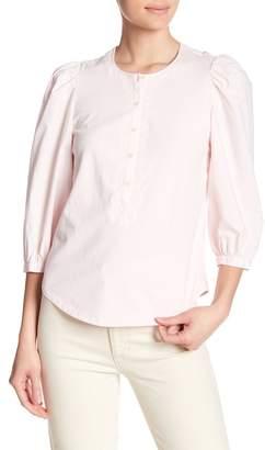 Rebecca Taylor Puffed Sleeve Henley Shirt