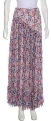 Philosophy di Lorenzo Serafini Floral Maxi Skirt Blue Floral Maxi Skirt