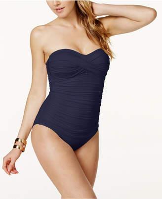 Anne Cole Twist-Front Bandeau One-Piece Swimsuit Women's Swimsuit