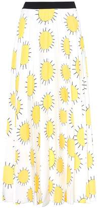 Christopher Kane Printed crepe skirt