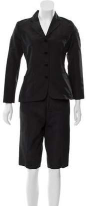 Ralph Lauren Mid-Rise Shorts Suit Black Mid-Rise Shorts Suit