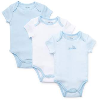 Little Me Baby's 3-Pack Train Bodysuits