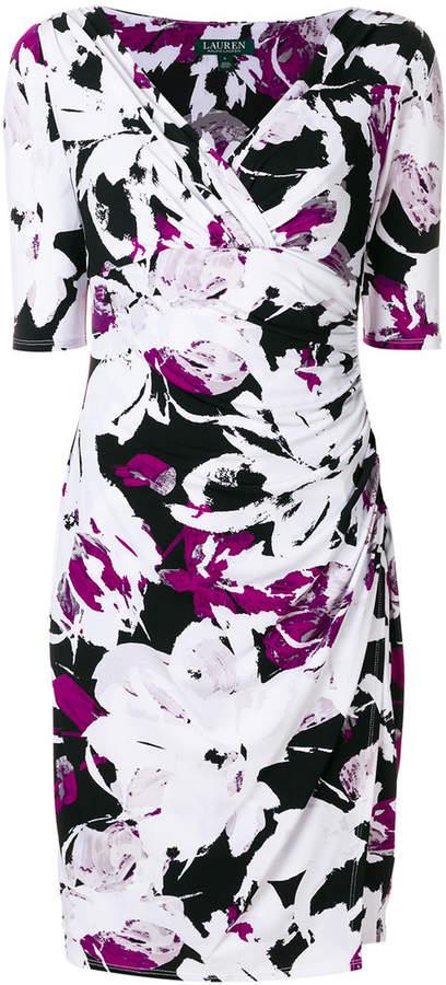 Ralph Lauren fitted v-neck dress