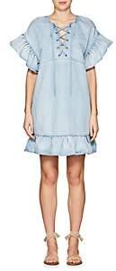 Ulla Johnson Women's Marianna Washed Denim Minidress-Blue