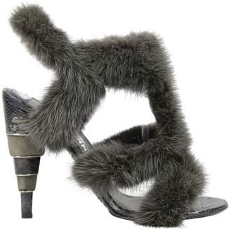 Salvatore Ferragamo Python heels