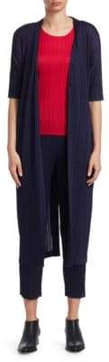 Pleats Please Issey Miyake Mellow Pleats Long Belted Jacket