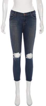 J Brand Misfit Capri Mid-Rise Skinny Jeans