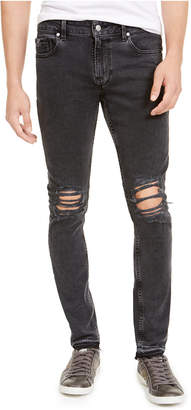 GUESS Men Released Hem Ripped Skinny Jeans