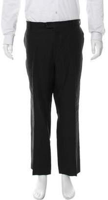 Valentino Flat Front Linen Pants