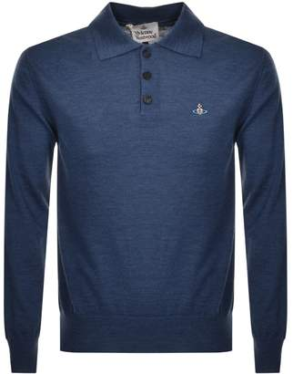 Vivienne Westwood Long Sleeved Polo T Shirt Blue