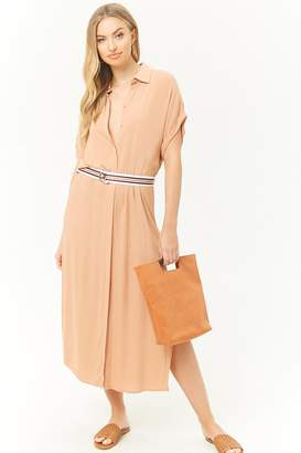 Forever 21 Belted Midi Shirt Dress