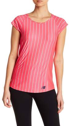 New Balance Somerset Cap Sleeve Striped Tee