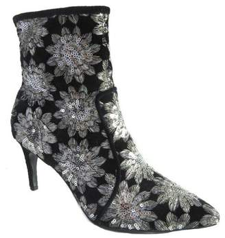 Charles David Pride Pointed Toe Floral Embroidered Bootie